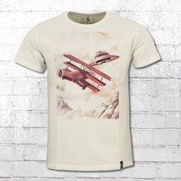 Dirty Velvet Herren T-Shirt Dogfight weiss
