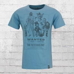 Dirty Velvet Herren T-Shirt Fictitious Five blau