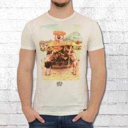 Dirty Velvet Herren T-Shirt Happy Meal weiss