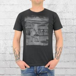 Dirty Velvet Herren T-Shirt Immovable Object anthrazit