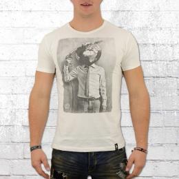 Dirty Velvet Herren T-Shirt Petrol Head weiss