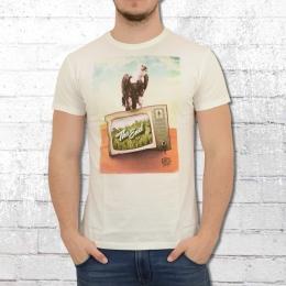 Dirty Velvet Herren T-Shirt The End weiss