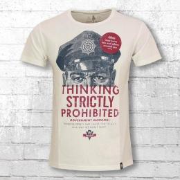 Dirty Velvet Herren T-Shirt Thinking Prohibited weiss