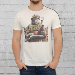 Dirty Velvet Männer T-Shirt Gorilla Warfare weiss