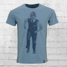 Dirty Velvet Männer T-Shirt Policchio mittel blau