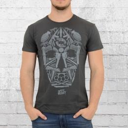 Dirty Velvet T-Shirt Herren Death Mask dunkel grau