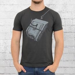 Dirty Velvet T-Shirt Herren Hooked dunkel grau