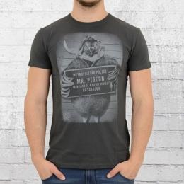 Dirty Velvet T-Shirt Herren Mister Pigeon dunkelgrau