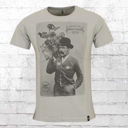Dirty Velvet T-Shirt Herren Smartphone grau