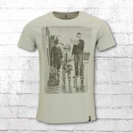 Dirty Velvet T-Shirt Herren Waterworld grau