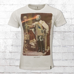 Dirty Velvet T-Shirt Männer Robo King weiss