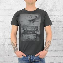 Dirty Velvet Männer T-Shirt Mr Crocodile dunkelgrau