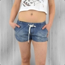 All About Eve Jeans Hot Pants Damen Denim Lounge Short blau