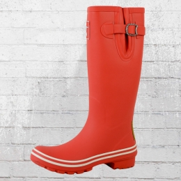 Evercreatures Damen Gummistiefel Plain Red And White rot weiss