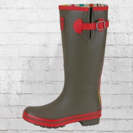 Evercreatures Gummistiefel Army Surplus Tall oliv rot