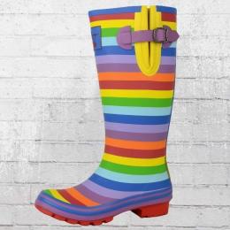 Evercreatures Gummistiefel Damen Rainbow Tall regenbogenfarben