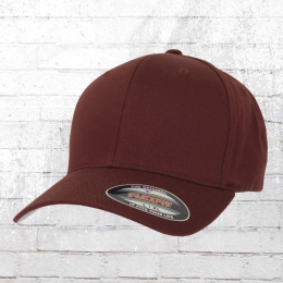 Flexfit Blanko Cap Mütze Kappe Schirmmütze weinrot
