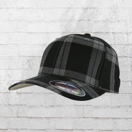 Flexfit Karo Cap Tartan Plaid schwarz grau