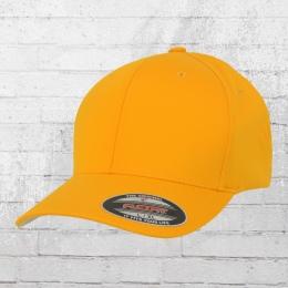Flexfit Mütze Wooly Combed Blanko Cap gelb