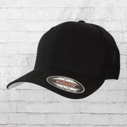 Flexfit Trucker Cap schwarz uni in Grössen