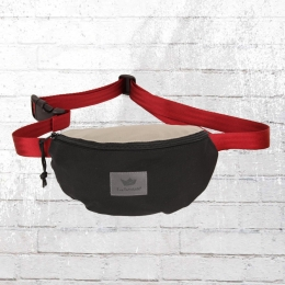 Freibeutler Bauchtasche Hip Bag Vegan Red Strap schwarz