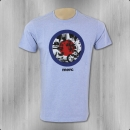 Merc London T-Shirt Männer Granville dust blue marl