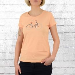 Greenbomb Fahrrad Frauen T-Shirt Bike Femme apricot