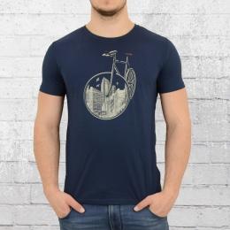 Greenbomb Fahrrad Männer T-Shirt Bike City dunkel blau