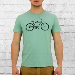 Greenbomb Fahrrad T-Shirt Beach Cruiser hellgrün melange