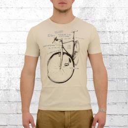 Greenbomb Herren Fahrrad T-Shirt Bike Scratch natur weiss