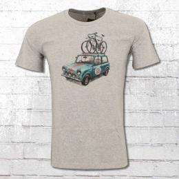 Greenbomb Männer Fahrrad T-Shirt Bike Rallye grau meliert