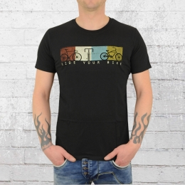 Greenbomb Männer Fahrrad T-Shirt Bike Ride schwarz