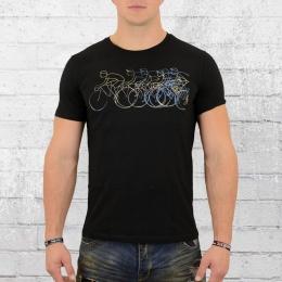 Greenbomb Männer T-Shirt Rennrad Bike Group schwarz