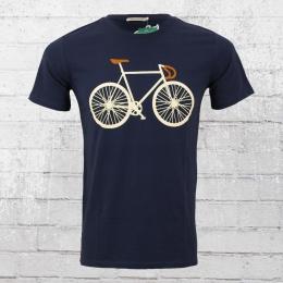 Greenbomb Männer Fahrrad T-Shirt Bike Two dunkelblau