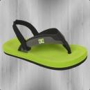 DC Shoes Baby Zehentrenner Sandalen Grommet grey lime green