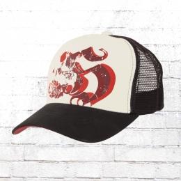Hooligan Death Trucker Cap weiss schwarz