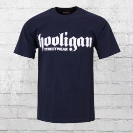 Hooligan Männer T-Shirt Big Classic blau