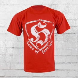 Hooligan Streetwear T-Shirt Herren HOF rot