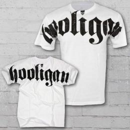 Hooligan T-Shirt Herren FAT weiss