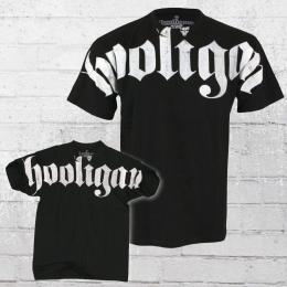 Hooligan T-Shirt Männer Hooligan Fat schwarz