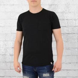 Indicode Basic T-Shirt Mit Brusttasche Overland schwarz