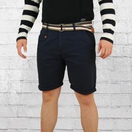 Indicode Chino Shorts Herren Royce dunkelblau