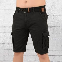 Indicode Herren Cargo Shorts Monroe schwarz