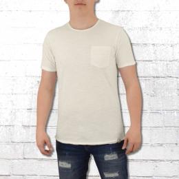 Indicode Männer Basic Shirt Mit Brusttasche Overland weiss
