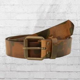 Intermoda Ledergürtel im Camouflage Design camo