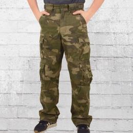 Jet Lag Herren Cargo Hose 007 mit Seitentaschen camouflage