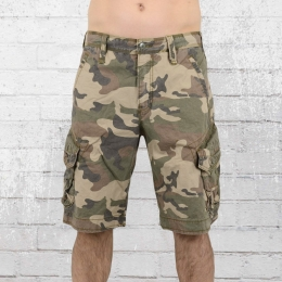 Jetlag Herren Cargo Army Shorts Take Off 3 woodland
