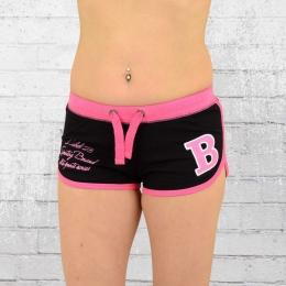 Label 23 Damen Hot Pants Sportsline Short schwarz pink