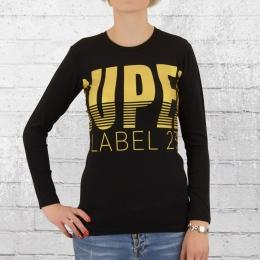 Label 23 Damen Longsleeve T-Shirt Super Bronze schwarz