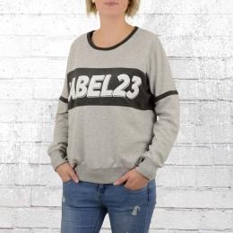 Label 23 Damen Oversize Pullover Starlight grau
